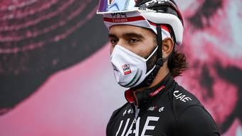Trotz Maske positiv auf das Coronavirus getestet und aus dem Giro ausgeschieden: der kolumbianische Sprinter Fernando Gaviria