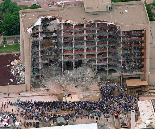 Das zerstörte Regierungsgebäude in Oklahoma City.