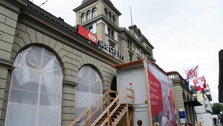 Der Bahnhof Winterthur wird zur Grossbaustelle.