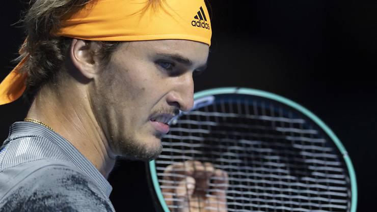 Frustriert: Alexander Zverev fand in der 1. Runde der Swiss Indoors kein Mittel gegen den Aufschlag von Taylor Fritz