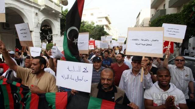 Proteste gegen die Präsenz der Milizen in Libyen (Archivbild)