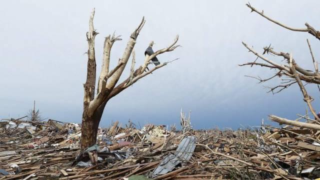 Bild der Verwüstung nach dem starken Tornado in Moore, Oklahoma