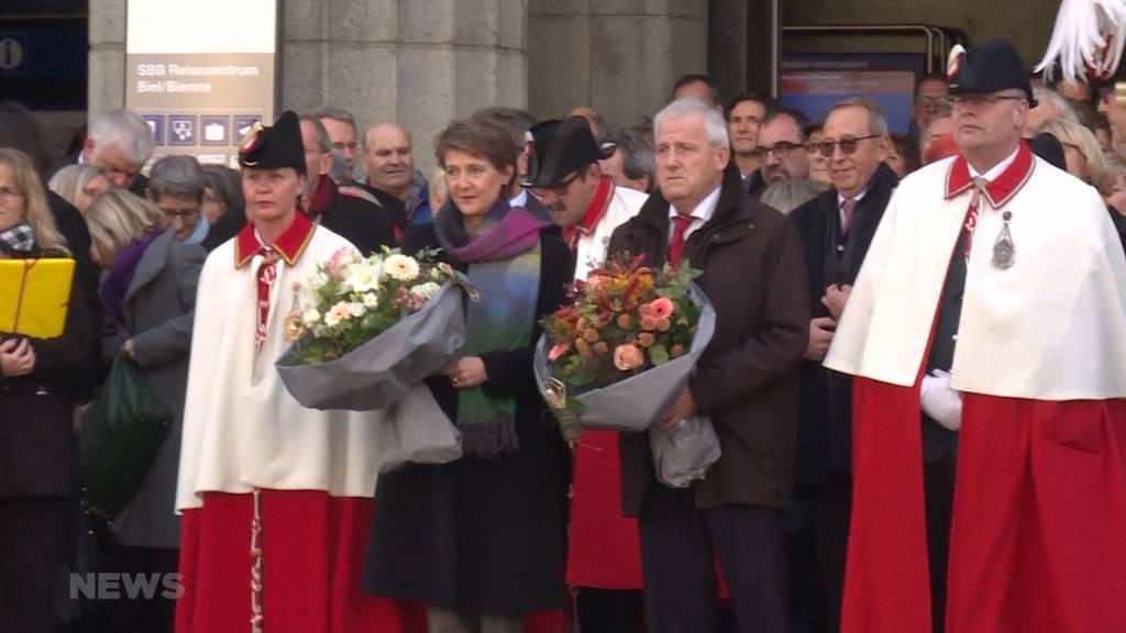 Feierlicher Empfang für Simonetta Sommaruga und Hans Stöckli