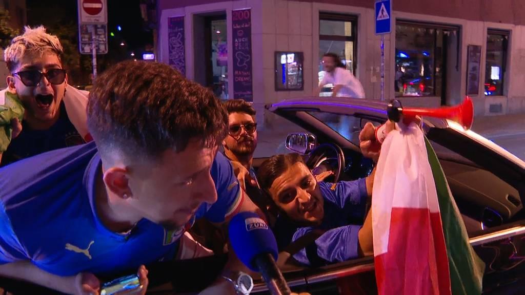 Italien-Fans in Zürich im Freudentaumel