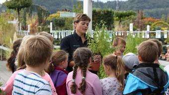 Bürener Schulkinder zu Besuch in der Baumschule