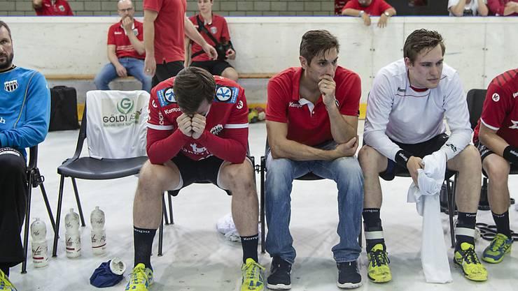 Enttäuschte Gesichter: Pfadi Winterthur kassiert die zweite Niederlage