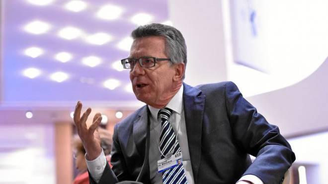 Thomas de Maizière vergangene Woche am Weltwirtschaftsforum in Davos, wo ihn die «Schweiz am Sonntag» zum Interview traf. Foto: swiss-image/Michael Buholzer