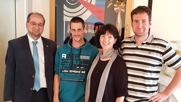 vlnr.: Roberto Conti, Christoph von Felten, Diana Stärkle, Pascal Jacomet
