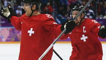 Simon Bodenmann einziger Torschütze gegen Tschechien (rechts Seger)