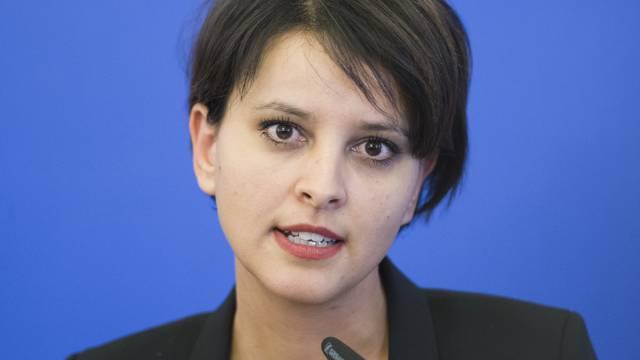 Die französische Bildungsministerin Najat Vallaud-Belkacem