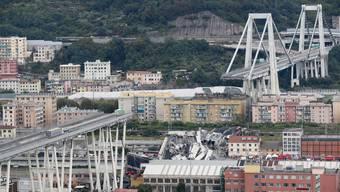 Die eingestürzte Morandi-Brücke.