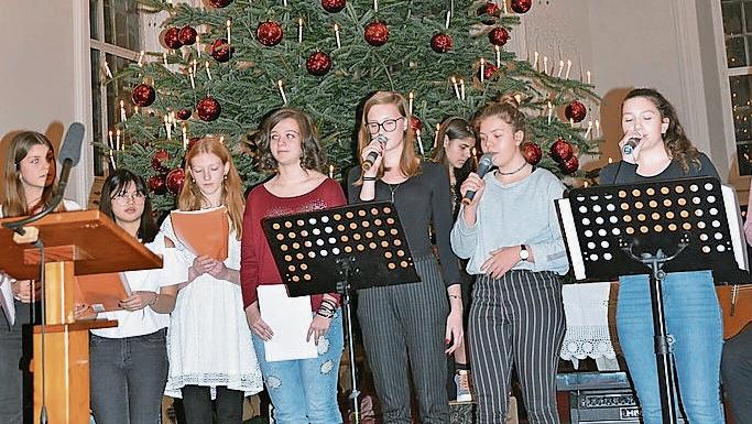 2018 wurde die Städtische Weihnachtsfeier von der Sekundarschule Freudenstein mitgestaltet.