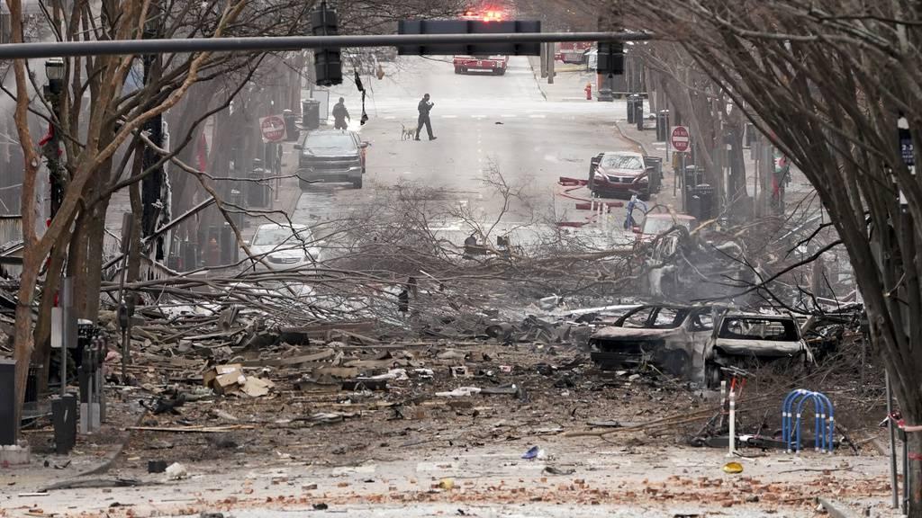 Verletzte nach heftiger Explosion in der Innenstadt von Nashville