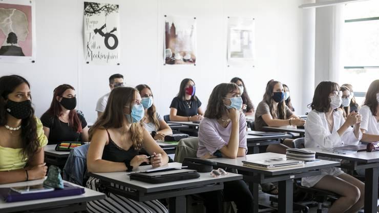 Die Digitalisierung des Unterrichts und die kommende Abstimmung zur Schulreform im Herbst waren auch Thema.