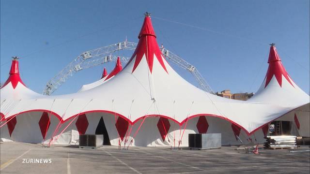 Premiere für das neue Zelt des Circus Knie