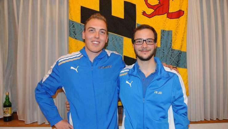 v.l.n.r Pascal Neuenschwander und Lui Auchter