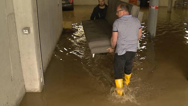 Massive Überschwemmungen im Bezirk Lenzburg