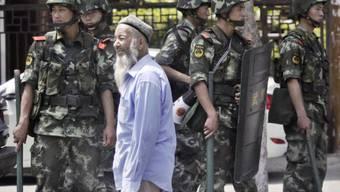 Erhöhte Militärpräsenz in der Provinz Xinjiang (Archiv)