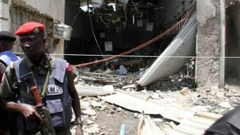 Bombenanschlag gegen eine nigerianische Zeitung am 26. April (Archiv)