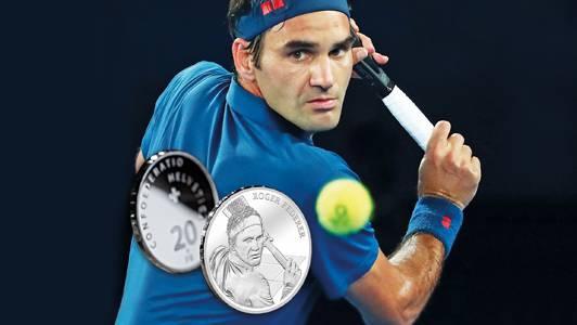 Als erste lebende Persönlichkeit erhält Roger Federer eine offizielle Gedenkmünze von Swissmint.