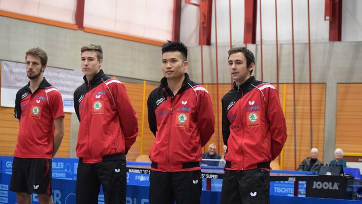 Dominik Moser, Cédric Tschanz, Chengbowen Yang und Lionel Weber