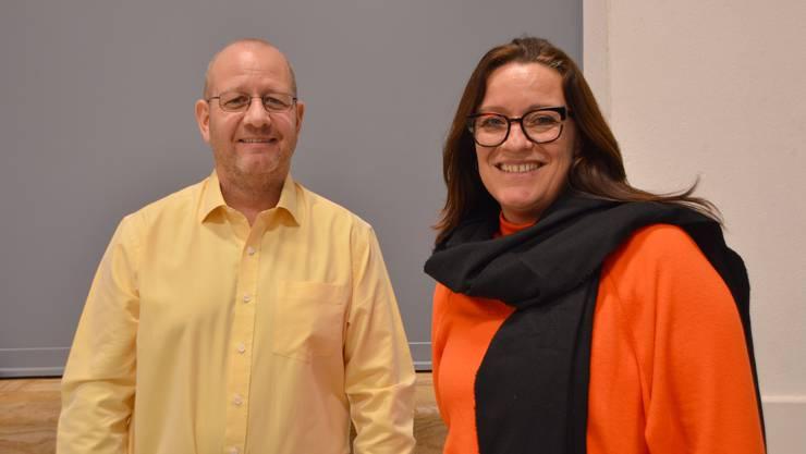 René Heiz und Astrid Zeiner warben in Schupfart für den Verkauf des OSZF an die Stiftung MBF.