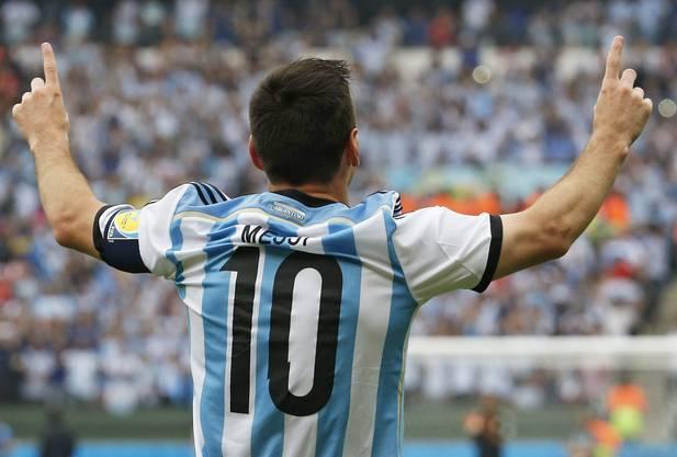 Messi trifft nach nur drei Minuten zur 1:0-Führung für Argentinien