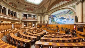 Der Nationalratssaal im Bundeshaus in Bern.