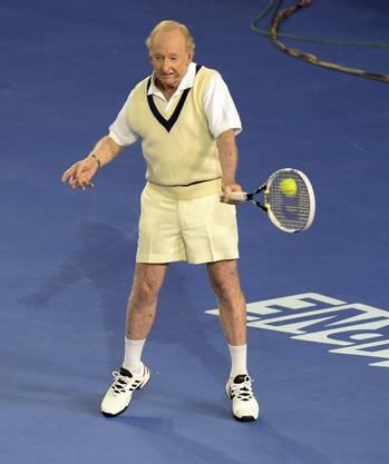 Noch immer kann der Oldie hervorragend Tennis spielen!