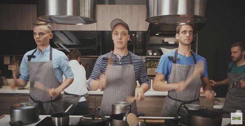 Basler Trommler in der Ikea-Küche