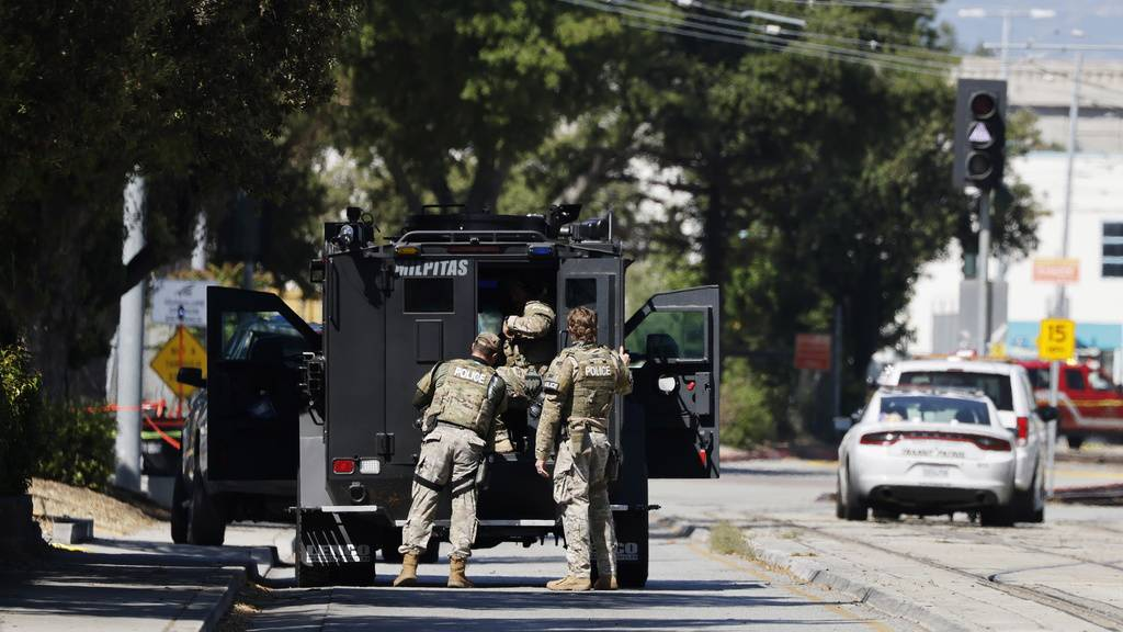 Die Polizei sichert den Tatort in San Jose.
