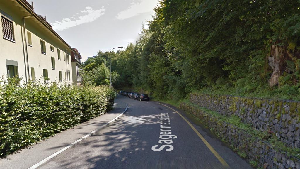 Die Sagenmattstrasse in Luzern. Hier mussten Personen ihre Wohnungen verlassen.