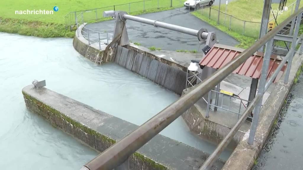 Wasserkraftwerk profitiert vom Hochwasser