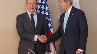 Treffen der Aussenminister: Kerry und Lawrow in Genf