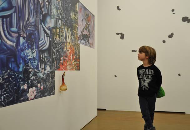 Auch die kleinsten Besucher fanden Gefallen an der Ausstellung Tschopps