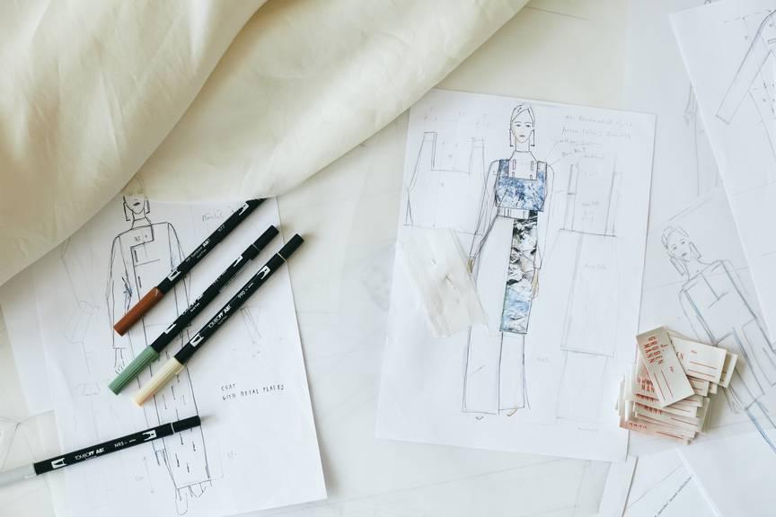 So sehen die Designs von Janine Grubenmann auf Papier aus. (Foto: zVg)