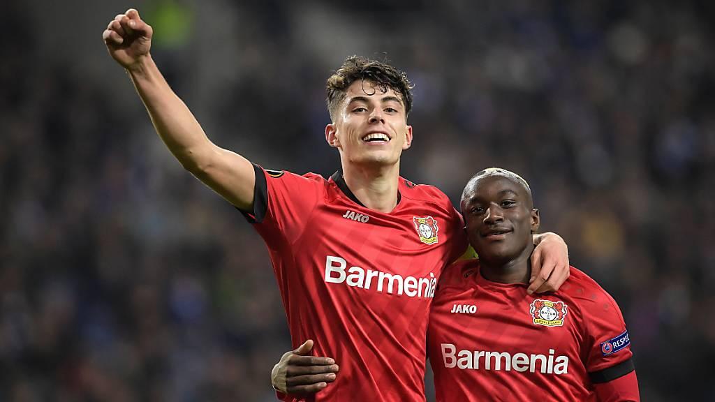 Kai Havertz (links) war ein weiteres Mal bei Leverkusen die entscheidende Figur