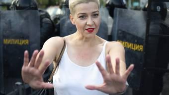 Maria Kolesnikowa will in Belarus zusammen mit anderen Oppositionellen eine eigene Partei gründen. (Archivbild)