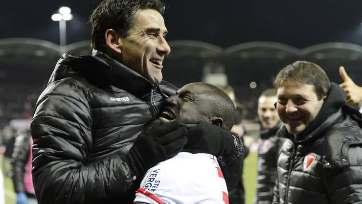 Didier Tholot geniesst den grossen Sieg des FC Sion.