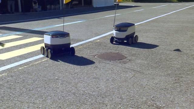 Post testet Lieferroboter
