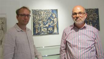 Redner an der Finissage waren Benjamin Geiger und Stefan Gelzer, Enkel von Benno Geiger.