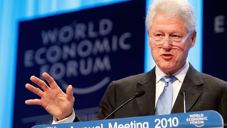 Bill Clinton: Feurige Rede am WEF