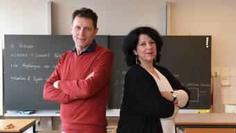 Beim Lehrplan 21 sind Harry Huwyler und Marion Heidelberger unterschiedlicher Ansicht.