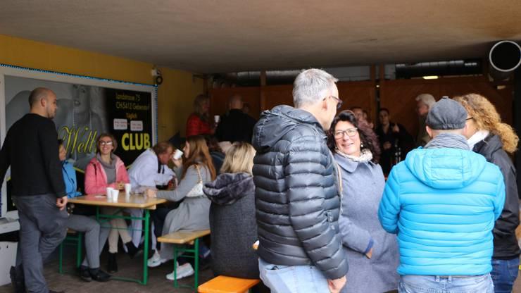Viele Besucher nutzten die Chance das Gebi-Wellness einmal von innen zu besichtigen.
