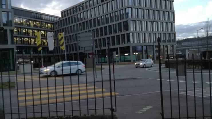 Das Gartentor zum Park Königsfelden wurde schon entfernt, damit die Leute weiterhin vom Fussgängerstreifen aufs Gelände gelangen.