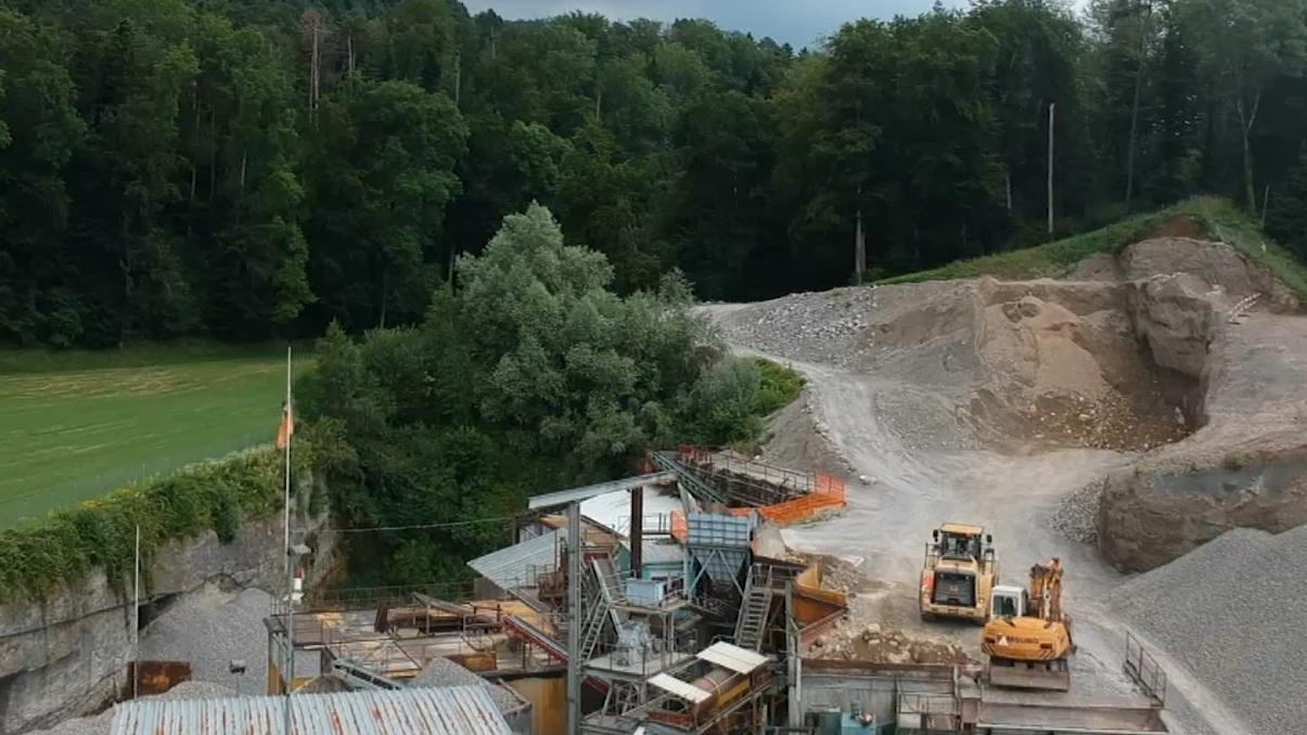 Der Standort bei der Kiesgrube in Ermenswil ist gemäss geologischen Untersuchungen geeignet.