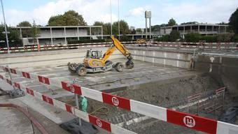 Das Sportbecken in der Solothurner Badi wird saniert.