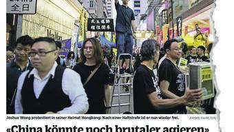 Im Juni 2019 gab Joshua Wong unserer Zeitung ein Interview, am Freitag nun wurde er erneut verhaftet.