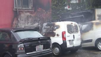 Autobrand in Muttenz