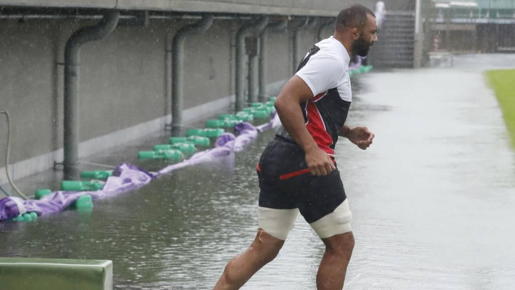 Taifun verursacht nur leichte Schäden an Olympia-Stadion